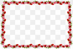 Beautiful Design - Borders And Frames Rose Clip Art PNG
