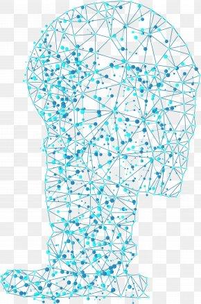 Blue Technology Line Human Brain - Human Brain Cerebrum Euclidean Vector PNG