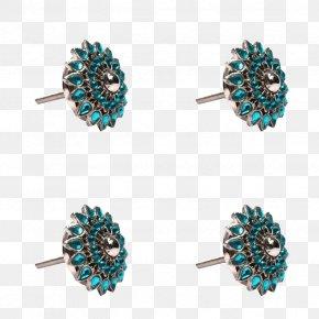Knob Design - Turquoise Body Jewellery Jewelry Design PNG