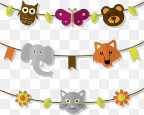 Vector Flag Pull Animal Heads - Icon PNG