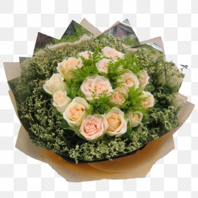 Bouquet Of Pale Pink Roses - Pink Rose Green Flower Bouquet PNG