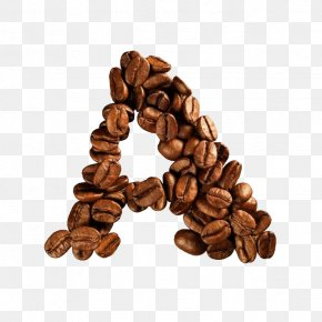 Coffee Beans Alphabet - Coffee Bean Alphabet Letter Cafe PNG