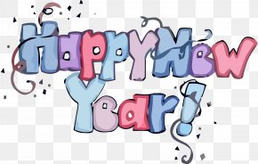 Pink Cartoon - Happy New Year PNG