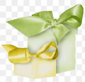 Party Favor Wedding Favors - Ribbon Green Yellow Present Gift Wrapping PNG