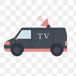 Vector Television Broadcast Vehicles - Car Television PNG