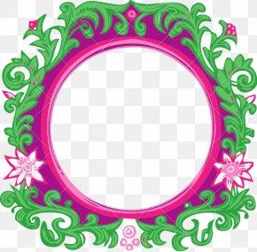 Flower Banner - Flower Green Floral Design Pink Magenta PNG