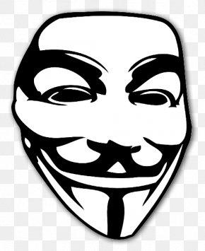 Mask - Guy Fawkes Mask Sticker V For Vendetta Clip Art PNG