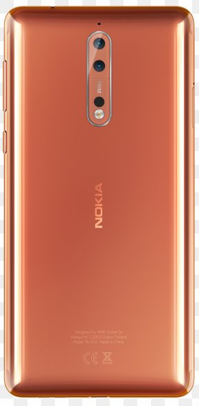 Smartphone - Nokia 諾基亞 Polished Copper Smartphone Telephone PNG