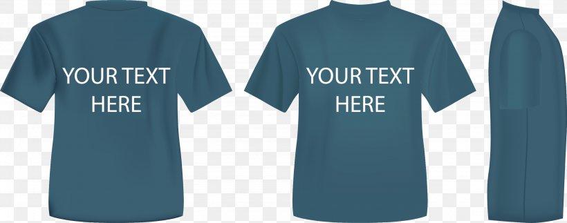 T-shirt Hoodie Polo Shirt Clothing, PNG, 2762x1088px, Tshirt, Active Shirt, Blue, Brand, Clothing Download Free