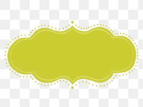 Oval Label - Yellow Green Rectangle Clip Art Label PNG