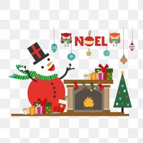 Stock Vector Snowman And Christmas - Snowman Christmas Euclidean Vector Symbol PNG