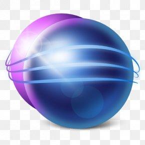 Apps Eclipse - Blue Ball Computer Wallpaper Purple PNG