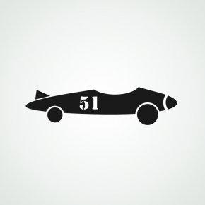 Race Car Outline - Car Formula One Auto Racing Stencil Clip Art PNG