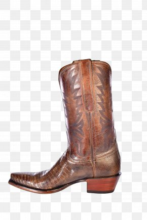 Leather Boots - Cowboy Boot Riding Boot Lucchese Boot Company Shoe PNG