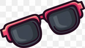 Cute Cartoon Sunglasses - Goggles Sunglasses Sticker Clip Art PNG