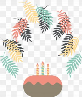 Multicolored Leaves Decorated Birthday Party - Happy Birthday To You Party Euclidean Vector Clip Art PNG