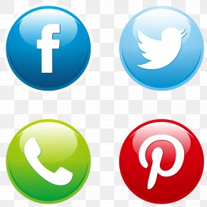 Vector Social Media Buttons Set - Social Media Button Euclidean Vector Download Icon PNG