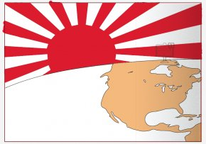 Civil War Graphics - Empire Of Japan Rising Sun Flag Second World War Flag Of Japan PNG