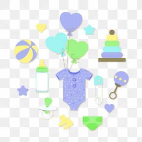 Vector Baby Items - Diaper Infant Euclidean Vector Baby Rattle PNG