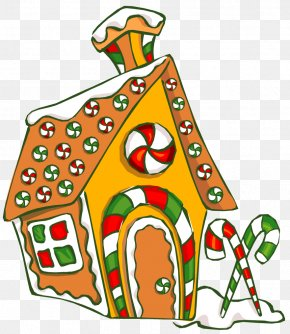 Gingerbread House Day - Gingerbread House Food Clip Art PNG