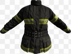 Firefighter - T-shirt Jacket Firefighter Coat Sleeve PNG