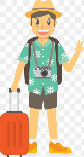 Tourists Traveling By The Sea - Euclidean Vector Travel Tourism Download Icon PNG