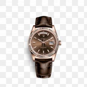 Rolex - Rolex Day-Date Watch Leather Gold PNG