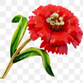 Red Carnations - Cut Flowers Plant Stem Petal Flowering Plant PNG