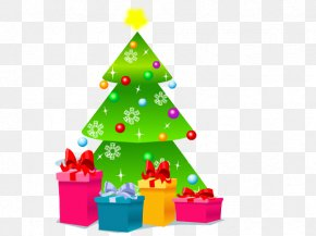 Christmas Tree With Gifts - Santa Claus Christmas Tree Snowman Tree-topper PNG
