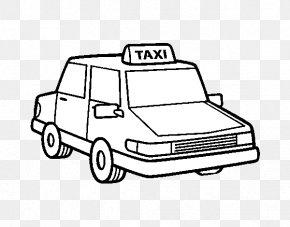 Antigua Publicidad De Opel - Taxi Car Drawing Coloring Book Yellow Cab PNG