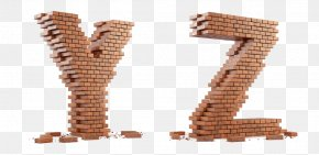 Letter - Wall Brick Letter English Alphabet PNG