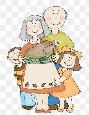 Cartoon Illustration Family Roast Turkey - Turkey Cartoon Illustration PNG