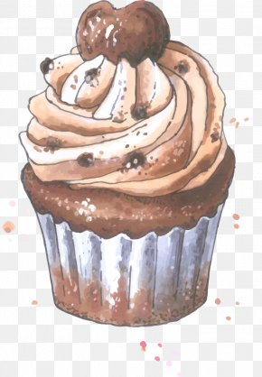Chocolate Cake - Cupcake Fruitcake Muffin Chocolate Cake Buttercream PNG