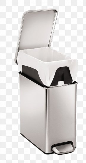 Covered Trash Can Mute - Waste Container Simplehuman Stainless Steel Liter PNG