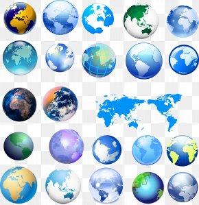 Earth - Earth Globe World Map PNG