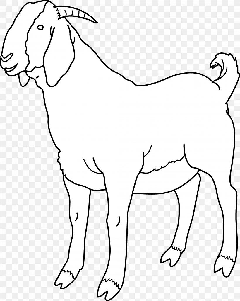 Boer Goat Black Bengal Goat Sheep Clip Art, PNG, 4202x5266px, Boer Goat, Animal Figure, Area, Black And White, Black Bengal Goat Download Free