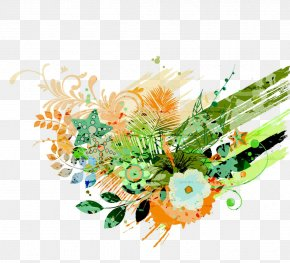 Cool Flowers Background - Floral Design PNG