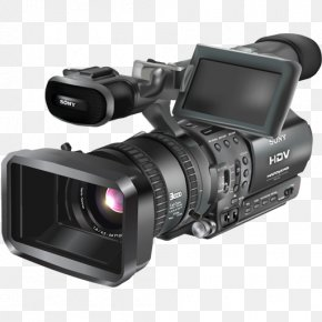 Film Camera - Digital Video Video Cameras Professional Video Camera Vector Graphics PNG