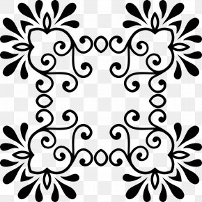 Vintage Ornaments - Black And White Visual Arts Clip Art PNG