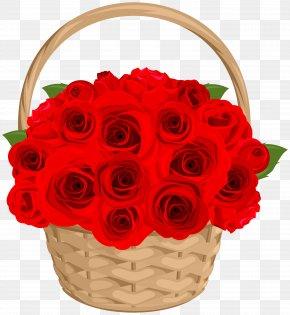 Rose Basket Transparent Clip Art - Garden Roses Clip Art PNG
