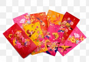 Chinese New Year Red Envelopes Pattern Decoration - Red Envelope Chinese New Year Fu PNG