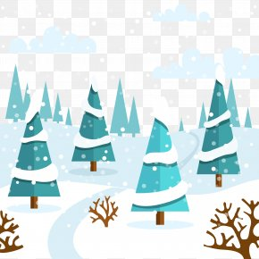 Snowing Forest - Snow Winter Euclidean Vector PNG