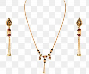 Indian Jewellery - Necklace ORRA Jewellery Earring Gold PNG