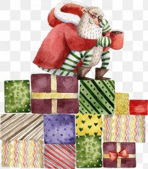 Norway Joyous Christmas - Santa Claus Gift Image Christmas Day PNG