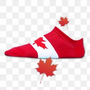 Fashion Socks Red Maple Leaf - Shoe PNG
