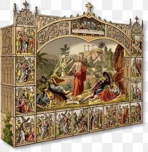Jesus Easter - Bible Resurrection Of Jesus Christianity Diorama Stations Of The Cross PNG