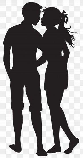 Couple Silhouettes Clip Art Image - Couple Clip Art PNG