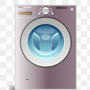 Washing Machine - Washing Machine Laundry Clothes Dryer Home Appliance PNG