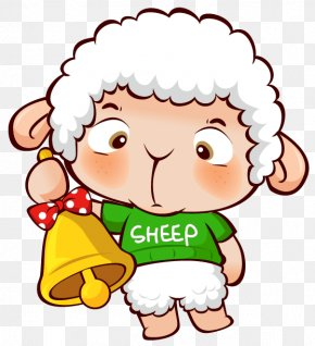 Transparent Christmas Sheep Clipart - Sheep Lamb And Mutton Clip Art PNG