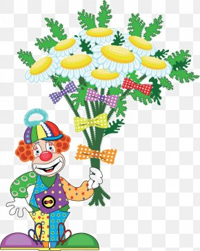 Cartoon Clown Flower - Clown Drawing Royalty-free Illustration PNG